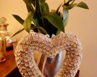 rolled book pages flower hanging heart