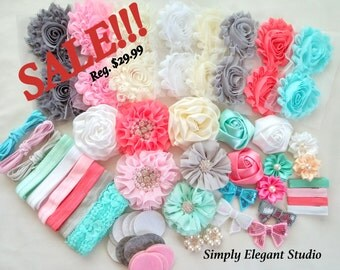 Headband Supply Kit, Baby Shower Headband Kit, Infant Headband Kit, DIY Headband, Kit #206