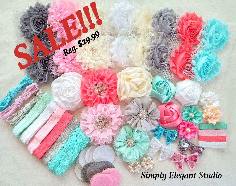 headband supply kit baby shower headband kit infant headband