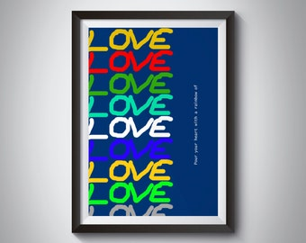Love poster, Love print, Love typography, Love art, home decor, wall art, prints
