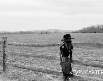 Civil War Reenactors Habiliments on Antietam Fence