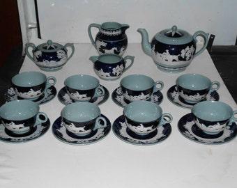 Copeland Spode Tea Set--Hunt Scene