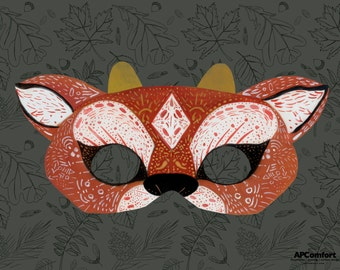 DOWNLOADABLE-PRINTABLE Paper Animal Masks: Deer