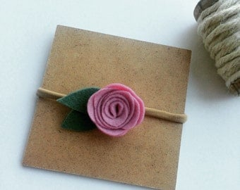 A headband for baby - pink or red flower