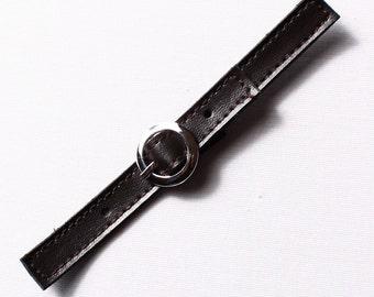 12 135mm, black polyurethane belt buckles (8477)