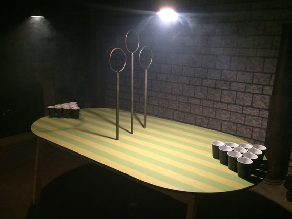 Items similar to quidditch pong table handmade on etsy for Table quidditch