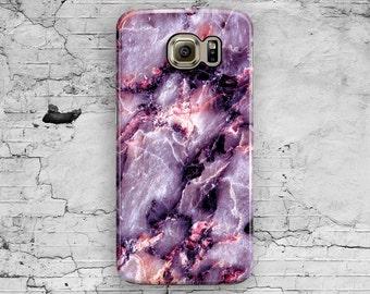 Purple Marble Samsung Galaxy S7 Case, Galaxy S6 Case, Pink Marble Galaxy S7 Edge, Galaxy S6 Edge Plus, S3 S4 S5 Note 7 3 4 5 Cool Granite