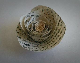 Book Page Paper Flowers - Wedding Flowers - Set of 50 - Upcycled Book Page Flowers - Wedding Shower Decor