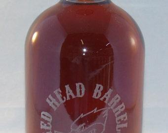 Personalized Etched/Engraved Bourbon Bottle or Moonshine Bottle