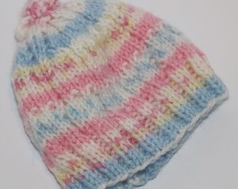 Baby Knitted Cap Girl Boy Pink Blue Unisex