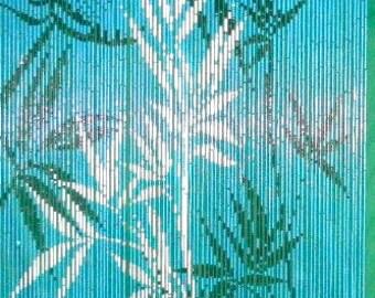 Blue Bamboo Curtain 90 Strands