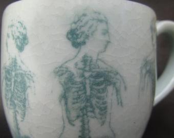 form and deformity mug green