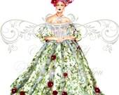 Sasha for Dolce & Gabbana-fashion illustration art print,fashion sketch,fashion wall art