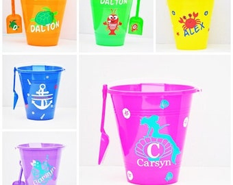 Personalized Beach Sand Pail Bucket