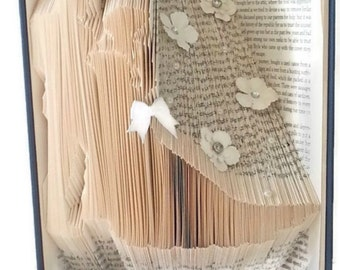 Unique Wedding Gifts, Couples Gift, Folding Book, Book Art, Folded Books, Book Folding, Great Couples Gift, Bride and Groom wedding
