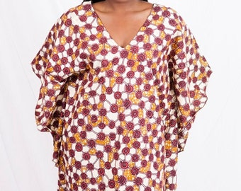 New African Wax Butterfly Short dress.