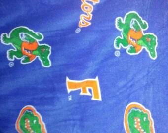 Florida Gators fleece no sew throw blanket 50x60