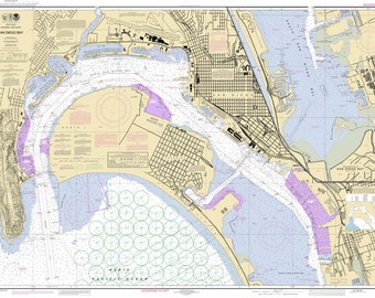 2012 Nautical Map of San Diego Bay California