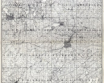 1873 Map of Waukesha County Wisconsin