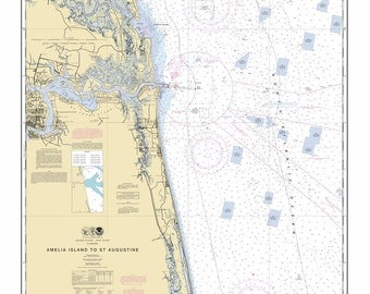 2012 Nautical Map of Amelia Island to St. Augustine Florida