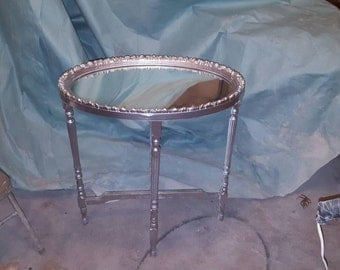 Custom Mirror Table.
