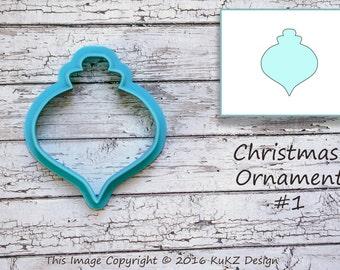 Christmas ornament cookie cutter / Tree ornament cookie cutter / Christmas cookie cutter / Christmas ornament fondant cutter