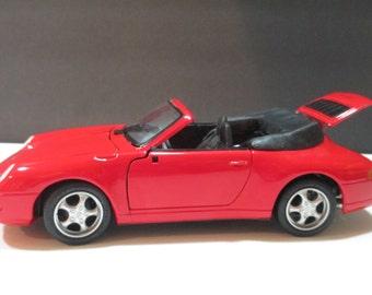 MAISTO PORSCHE 911 CARRERA Cabriolet 1994, Maisto Porsche Model, Meist Porsche 1:18, Carrera Cabriolet, Porsche Model Car