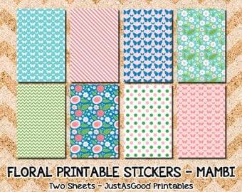 Floral Printable Stickers for the Happy Planner - MAMBI