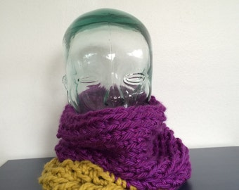 Two Tone Chunky Cowl