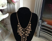 Vintage Russian Gold Miriam Haskell Bib Necklace