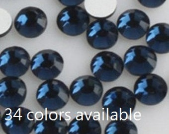 144pcs Flat Back Crystal Rhinestones Montana Sapphire Dark Blue loose flatback rhinestones crystals beads glass 2mm 3mm 4mm 5mm 6mm