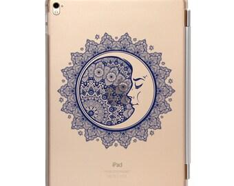 iPad case compatible with iPad mini 4, iPad Pro 9.7 inch, iPad Air 2, detachable smart cover, Sleeping Moon mandala Design