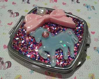 ONLY 1 AVAILABLE! Cute Unicorn Kawaii  Mirror Compact, Fairy Kei, Magical Girl
