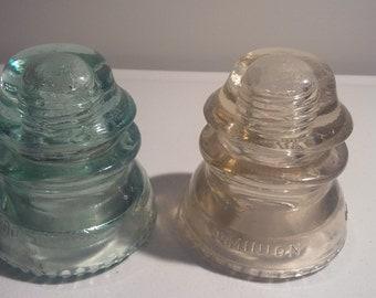 Dominion Glass Insulators Green & Clear