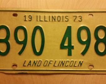 Vintage Illinois License Plates