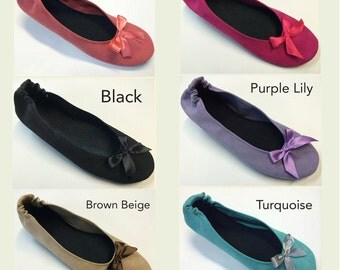 50 Monogrammed Chamois Flats in a Variety of Colors