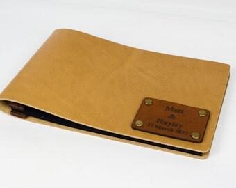 Leather Photo Album 4x6 , Photo Album , Wedding Album , Travel Album , 4 x 6 Photobook,  Personalized, Natural