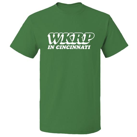 Wkrp in cincinnati t shirt 100 cotton from the 80 39 s tv for Custom t shirts cincinnati