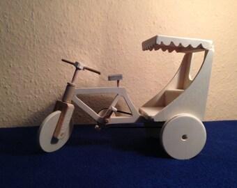 Rickshaw out of wood