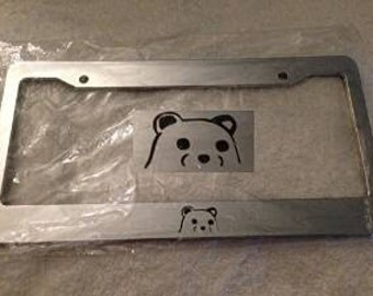 Pedo the Bear Jdm Style   - Chrome  License Plate Frame -