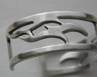 Vintage Newbridge Silverware Silver Cuff Bangle Bracelet Made In Ireland