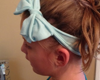 Baby Blue Adult/Child/Baby Headband Knot or Bow