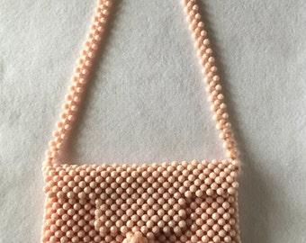 Vintage Pink Beaded Handbag