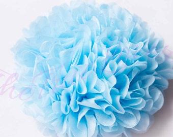 SKY/ 1 tissue paper Pompoms,single pompom,nursery room decoration, baby shower,wedding,birthday,engagement,bridal shower,DIY,centerpieces