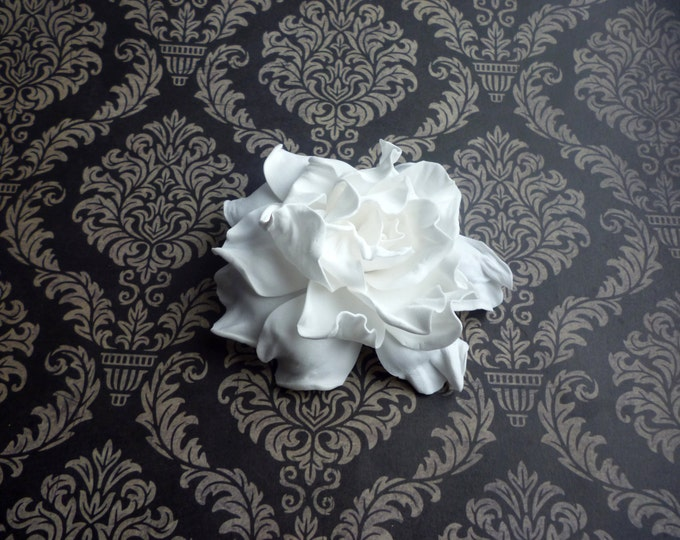 White Rose Hair Clip Wedding Rose Hair Clip Flower Hair Clip Rose Floral Hair Clip White Rose Clip Floral Rose Bridal Baby hairpin white