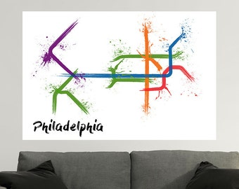 Philadelphia Train Map Poster