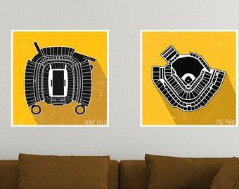 Pittsburgh Stadium Poster Print Set