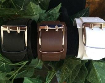 Double Buckle Leather Bracelet