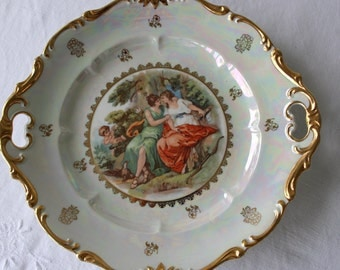 Base cake, glossy porcelain, love, made in Germany