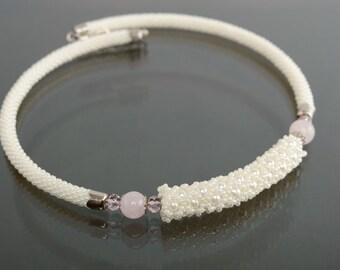 Handmade beaded cord necklace